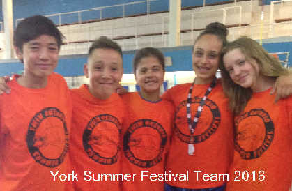 York Summer Festival Team 2016